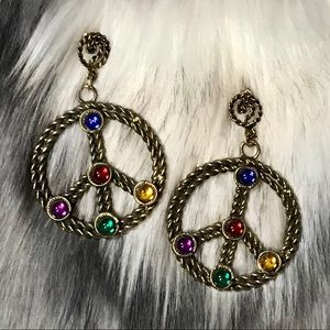 Jewelry - Vintage Peace Sign Earrings